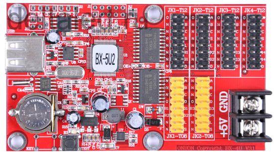 Контроллер четырехрядный BX-5U2 для одно и двухцветного табло