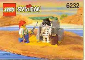 6232 Лего Убежище скелета