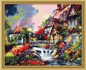 "Картина по номерам ""Цветущий дом"" 40х50"