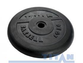 Диск обрезиненный Titan 10 кг