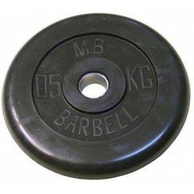 Диск обрезиненный MB Barbell 0,5 кг