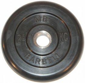 Диск обрезиненный MB Barbell 2,5 кг