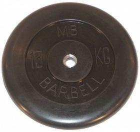 Диск обрезиненный MB Barbell 15 кг
