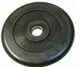 Диск обрезиненный MB Barbell 20 кг