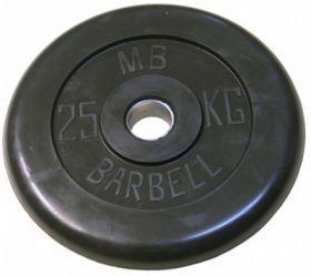 Диск обрезиненный MB Barbell 25 кг