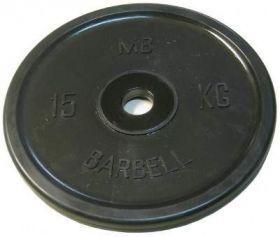 Диск обрезиненный MB Barbell 15 кг. (d 51 мм)