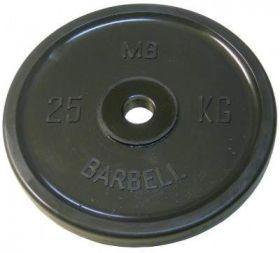 Диск обрезиненный MB Barbell 25 кг. (d 51 мм)