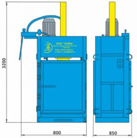 Пресс гидравлический пакетировочный ПГП-18Б