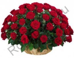 Корзина с 45 красными розами