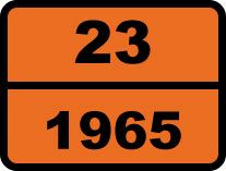 """23-1965. Газ"". Табличка опасный груз"