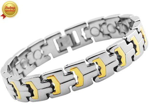 Титановый магнитный браслет TIB-0445SGNT-W