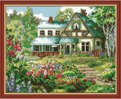 "Картина по номерам ""Цветы у дома "" 40х50"