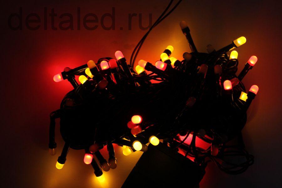 """Светодиодная гирлянда """"Игровые огни"""" 10 метров, 100 диодов, RGB для уличного применения"""