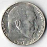2 рейхсмарки. 1939 год. G. Серебро.