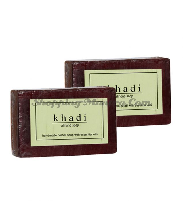 Мыло с натуральными эфирными маслами Миндаль (2шт.) (Khadi Herbal Almond Soap)