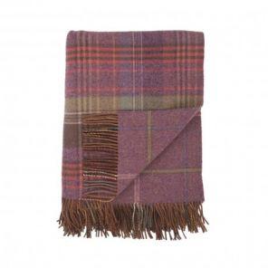 плед шотландский двусторонний, 100 % стопроцентная шотландская овечья шерсть, расцветка Клевер Шотландии, плотность 10