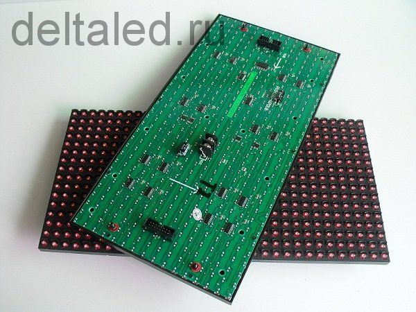 Одноцветный модуль для бегущей строки P10 (320*160 мм) для помещений