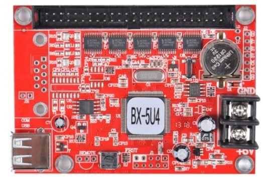 Контроллер 16-тирядный BX-5U4 для одно и двухцветного табло в комплекте с хабом