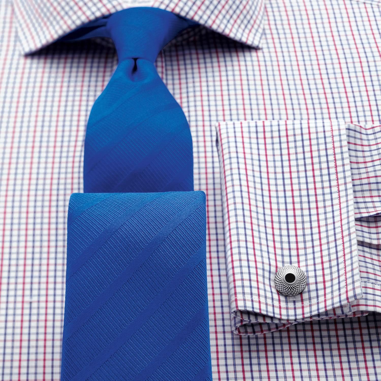 9469acb1c30 Мужская рубашка под запонки в красно-синюю клетку Charles Tyrwhitt сильно  приталенная Extra Slim Fit · Увеличить изображение