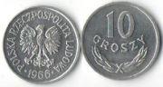 10 грошей. 1966 год. Польша.