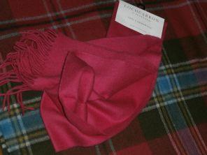 шарф 100% шерсть , расцветка Bright Pink Брайт Пинк (ярко розовый)