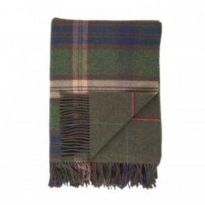 плед шотландский двусторонний, 100 % стопроцентная шотландская овечья шерсть, расцветка Форт Forth, плотность 10