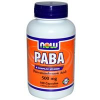 PABA, 500 mg, 100т -Парааминобензойная кислота (витамин В10)
