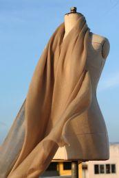 Кашмирская шаль песочного цвета