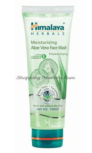 Увлажняющий гель для умывания Алое&Огурец Хималая / Himalaya Moisturizing Aloe Vera Face Wash