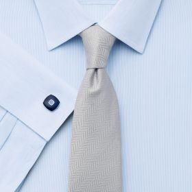 Мужская рубашка под запонки синяя Charles Tyrwhitt не мнущаяся Non Iron сильно приталенная Extra Slim Fit (RG068SKY)