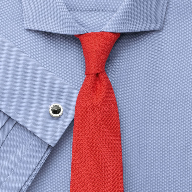 b1ca6dafc32 Мужская рубашка под запонки синяя Charles Tyrwhitt не мнущаяся Non Iron сильно  приталенная Extra Slim Fit