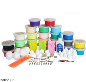 Супер легкий пластилин 24 цвета