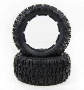 "HPI Baja 5B rear small knobby ""EXCAVATOR"" tire set"