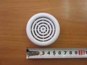 Вентрешётка 48мм (цвет белый) (кольцо в комплекте)
