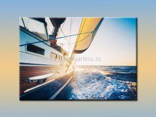 Закат на яхте