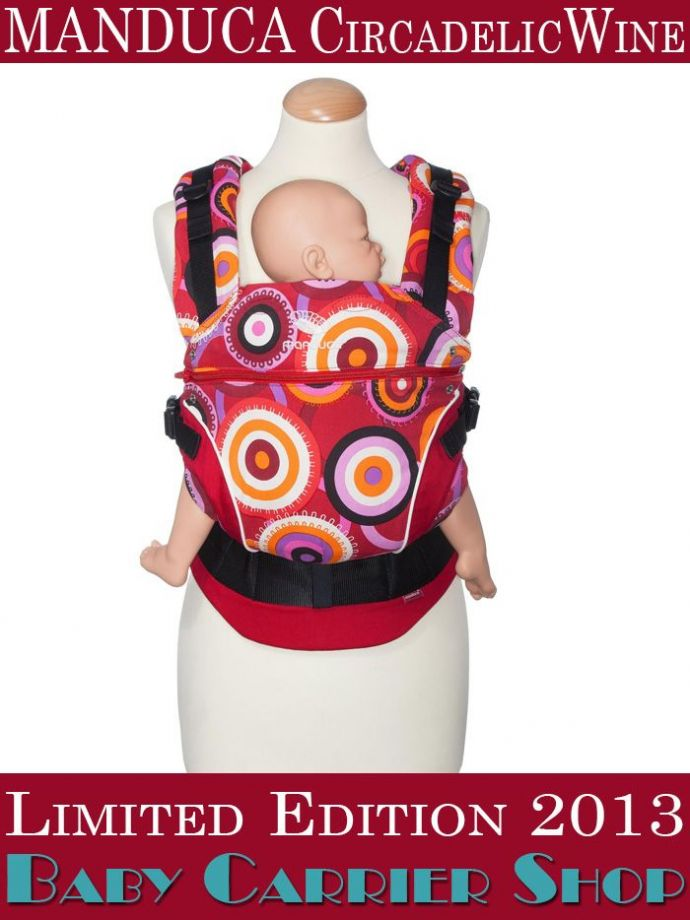 Слинг-рюкзак MANDUCA Baby And Child Carrier Эргорюкзак для переноски малышей «CircadelicWine Limited Editions» [Мандука слингорюкзак Вино]