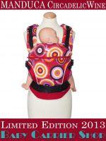 Слинг-рюкзак MANDUCA Baby And Child Carrier Эргорюкзак для переноски малышей «CircadelicWine Limited Editions» [Мандука слингорюкзак Вино]