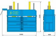 Пресс гидравлический пакетировочный двухкамерный ПГП-4-Д