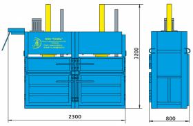 Пресс гидравлический пакетировочный двухкамерный ПГП-12М-Д