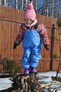 Непромокаемый детский полукомбинезон ТИМ голубого цвета
