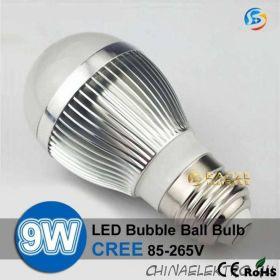 Светодиодная лампа 9W. Поддерживает регулировку яркости.