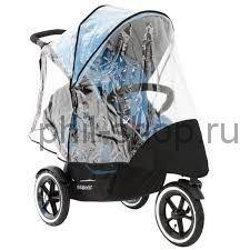 Дождевик для колясок Phil and Teds Navigator/Sport до 2019 года с доп.сиденьем