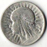 2 злотых. 1934 год. Польша. Серебро.