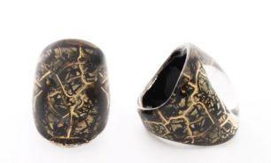 Кольцо Бонди удлиненное   различных цветов  муранское стекло