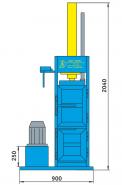Пресс гидравлический пакетировочный для пакли ПГП-4П