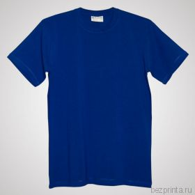 Мужская ярко-синяя футболка стрейч без рисунка REDFORT