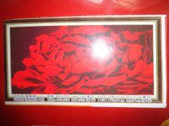 """Купить набор для вышивания крестом """"ПИОН"""" шелковые нити (модульная картина триптих)"""