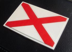 """нашивка / магнит на холодильник """"флаг Святого Патрика"""" (флаги Северной Ирландии и шт. Алабама)"""