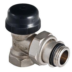 Клапан термостатический угловой с преднастройкой (KV 0,1-0,6)
