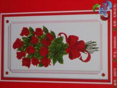 """Купить набор для вышивания крестом """"Букет алых роз"""""""